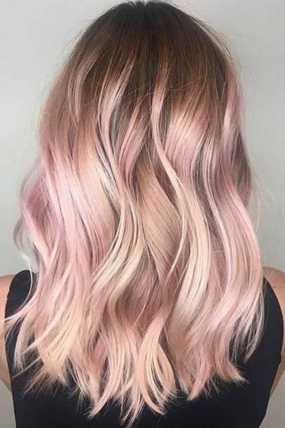 Baby Rose Gold Hair
