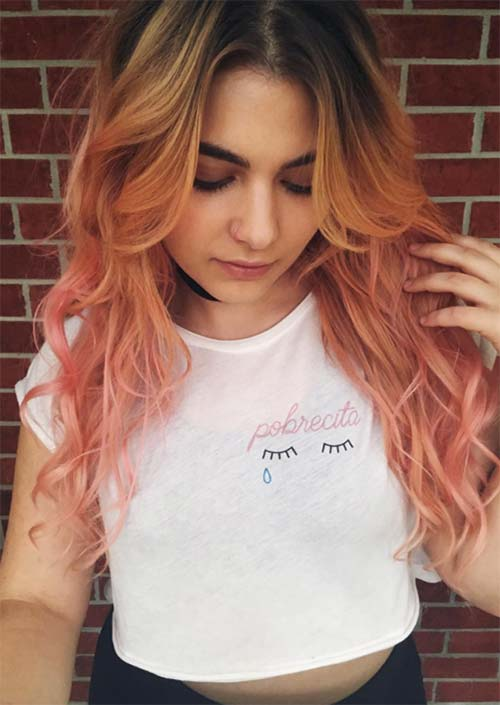 Illuminated Rose Gold Waves