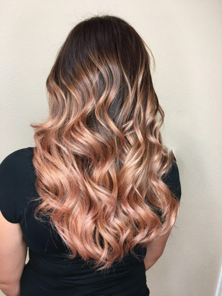Rose and Soft Gold Waves